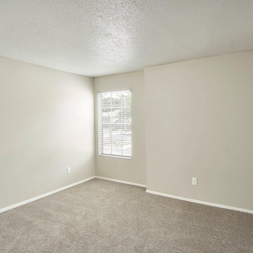 A bedroom with plush carpeting at Avenue @Creekbridge in Brandon, Florida