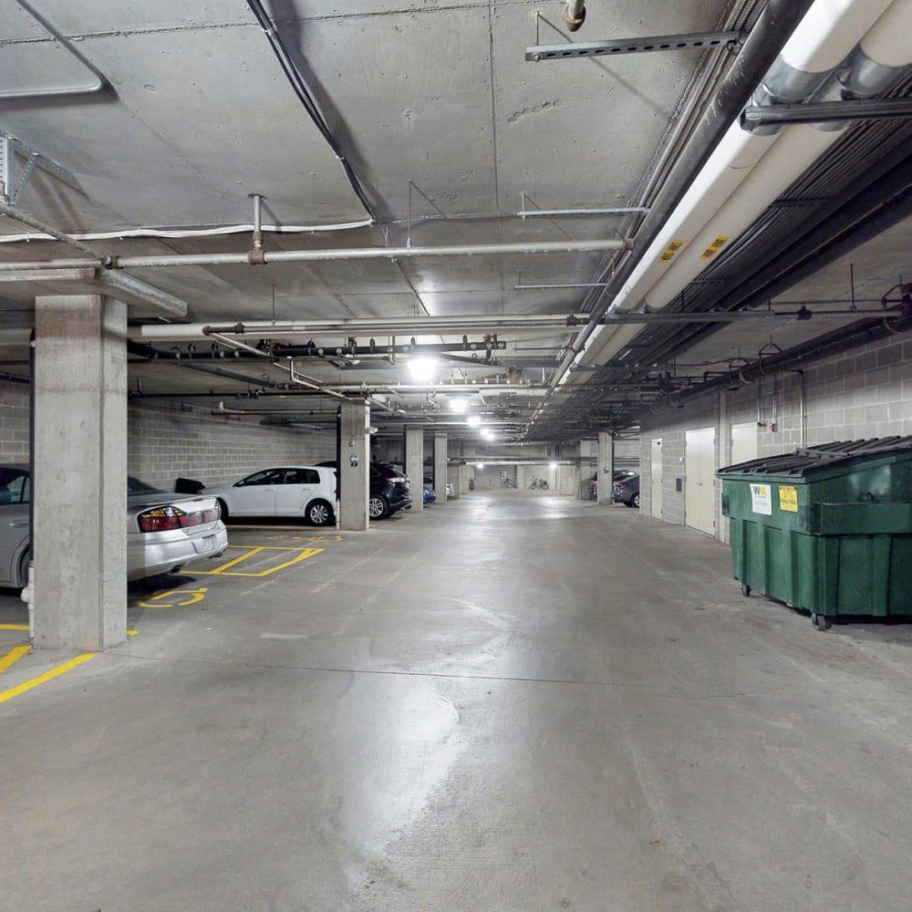 Secure underground parking available at Oaks Hiawatha Station in Minneapolis, Minnesota