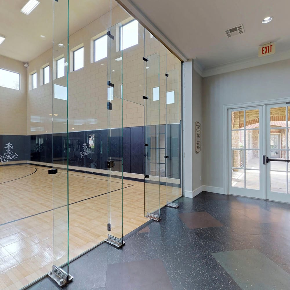 Indoor basketball court for year-round hoops at Oaks Riverchase in Coppell, Texas