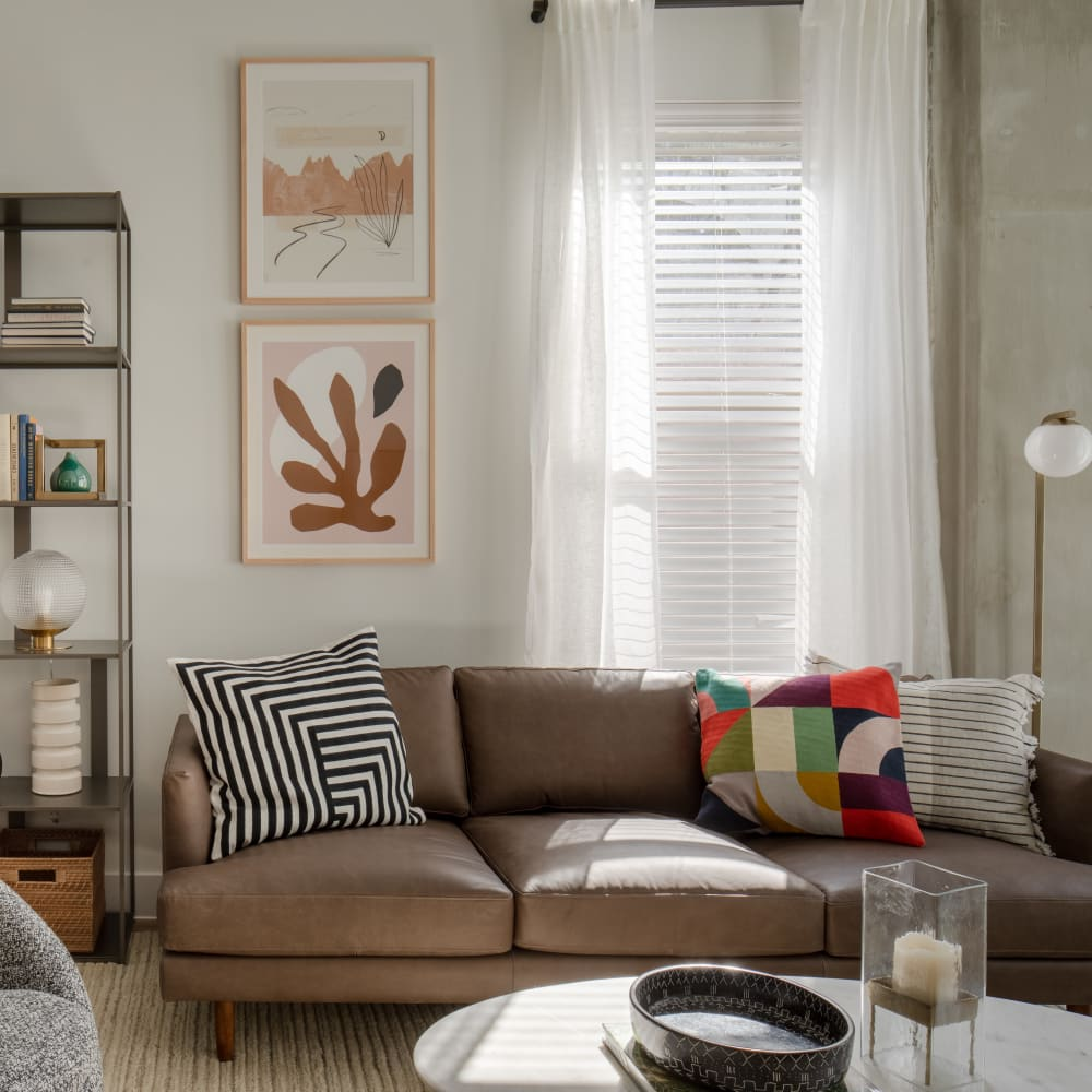 Living Room at Heritage Plaza in San Antonio, Texas