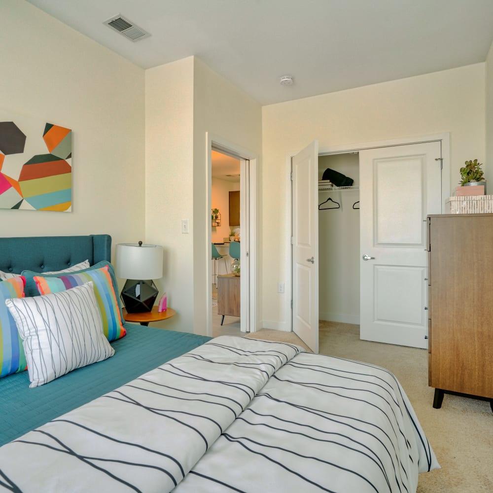 Model Bedroom at Indigo 19's] in Virginia Beach, Virginia