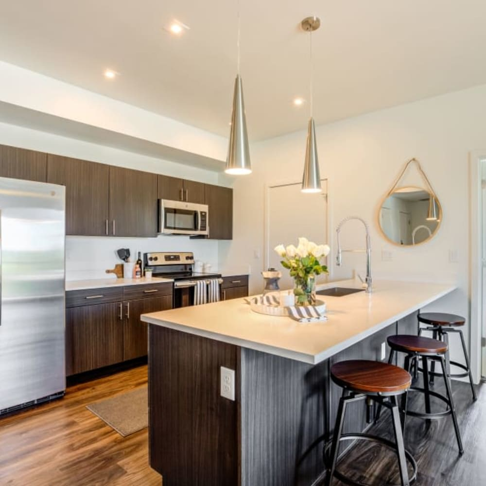 Model Kitchen at The Wyatt Apartments's] in Fort Collins, Colorado