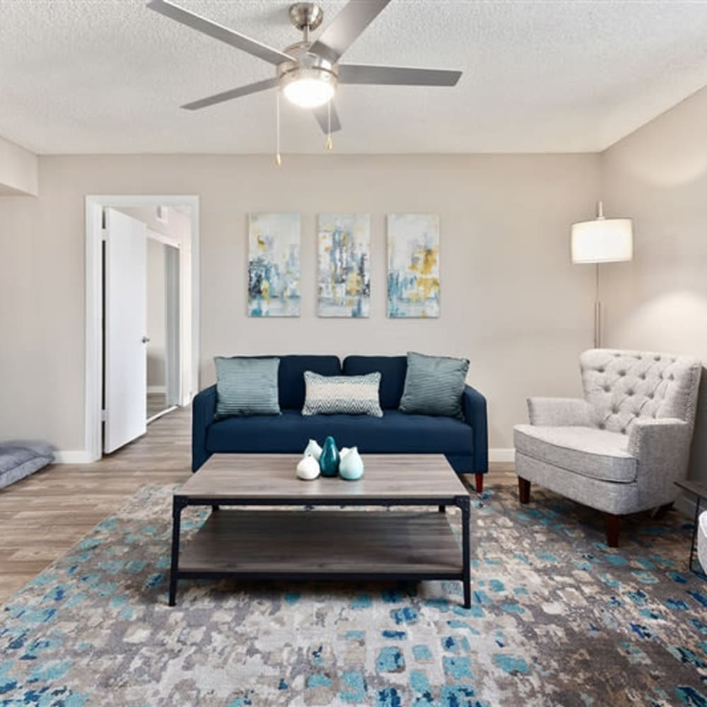 A large living room with natural lighting at 1408 Casitas at Palm Valley in Avondale, Arizona
