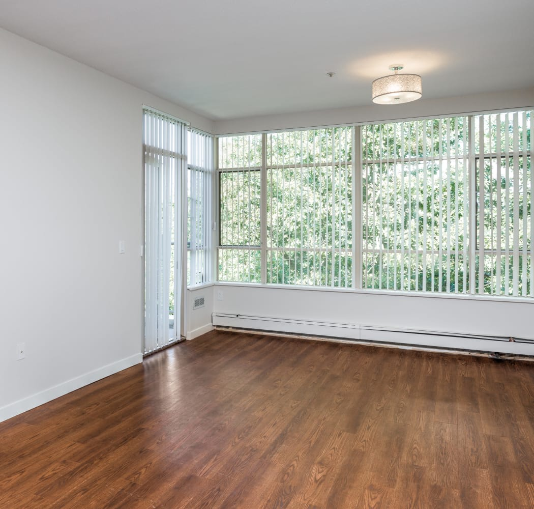 Beautiful hardwood floors at Dunway Court in Vancouver