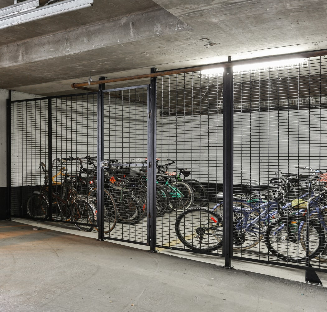 Underground secure bike storage at Dunway Court in Vancouver
