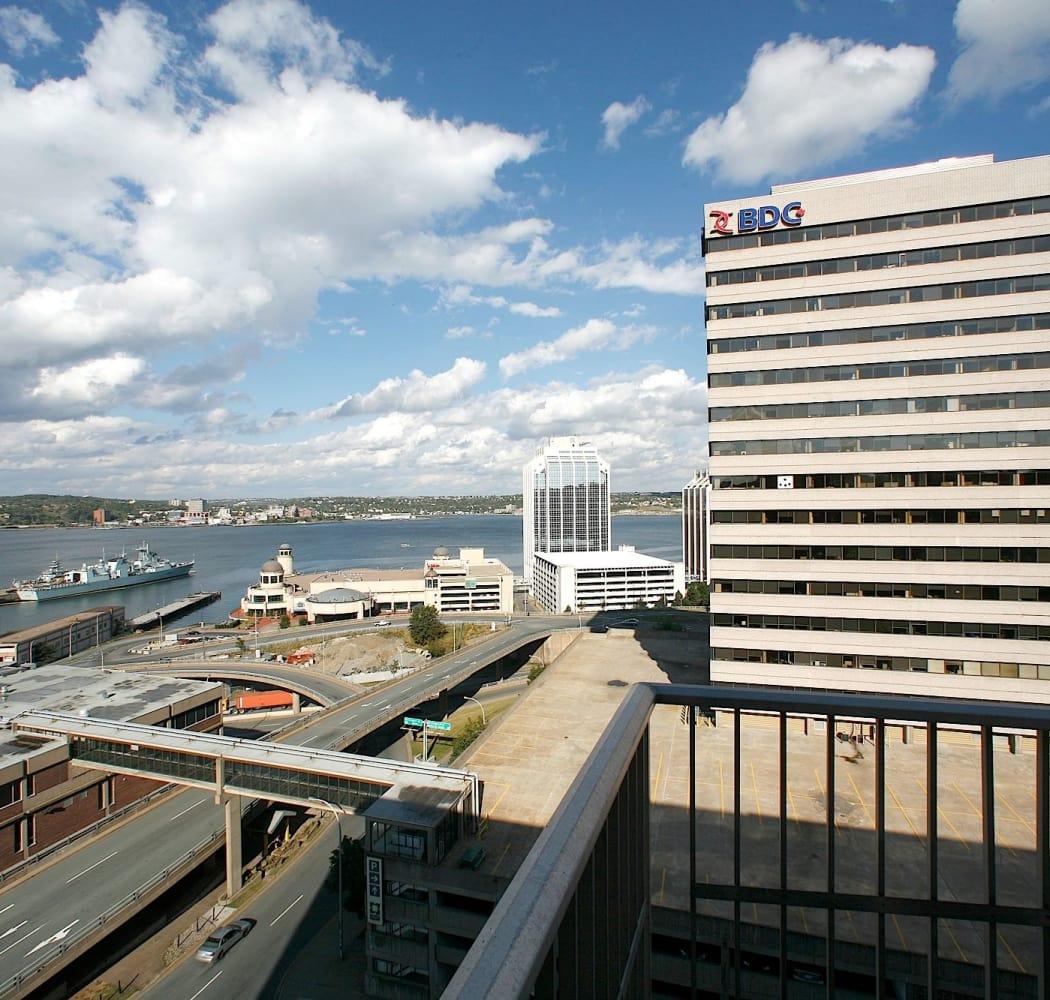 Balcony views at Halifax Apartments in Halifax