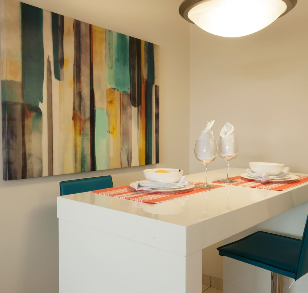 Dining area at Calgary Place Apartments