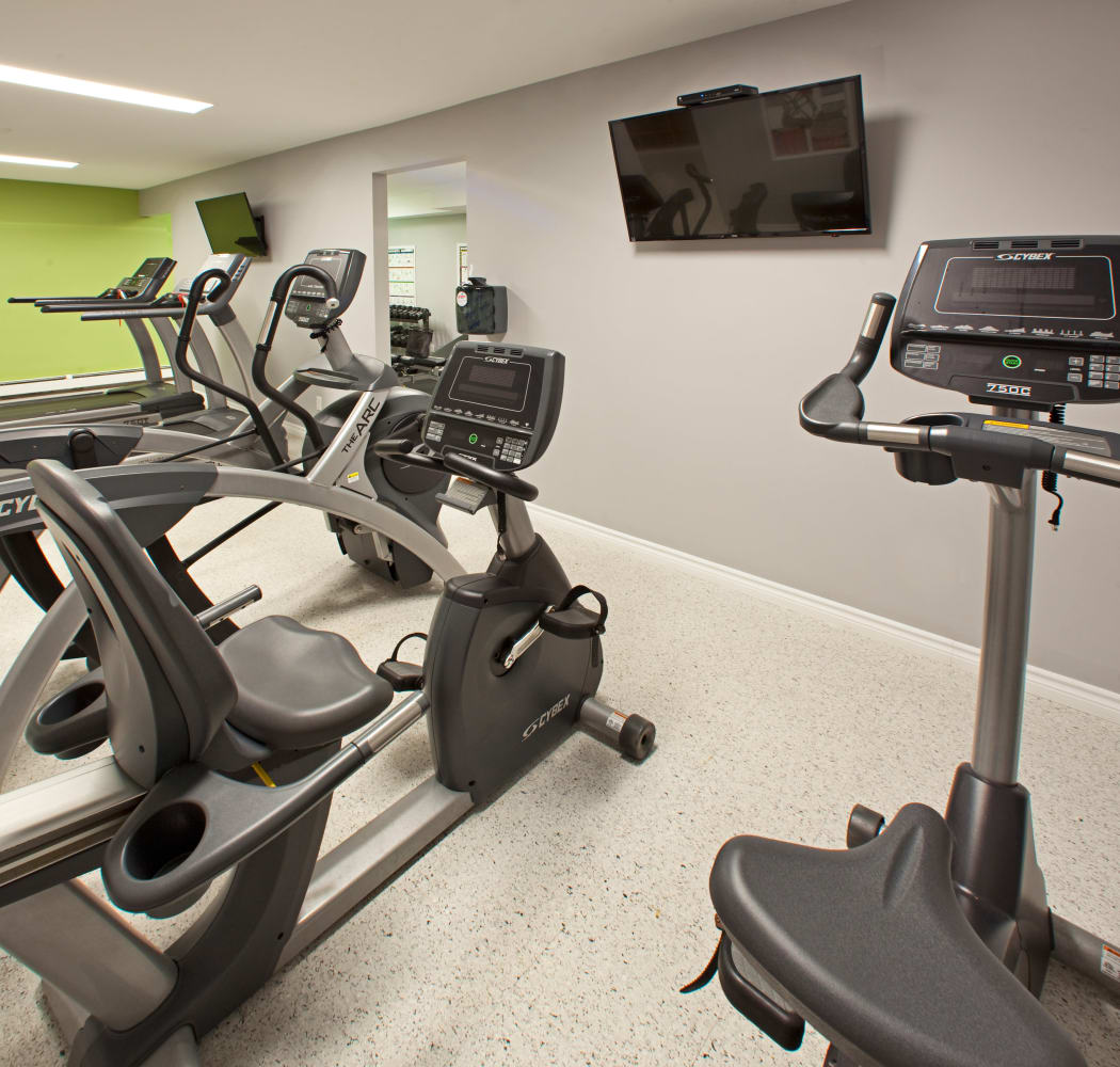 Fitness equipment at StoneCrest Village in Halifax
