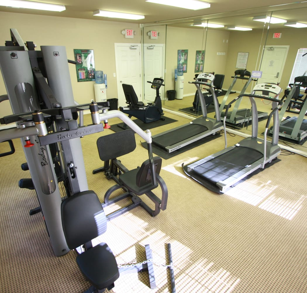 Well-lit fitness center at Remington Apartments in Amarillo, Texas