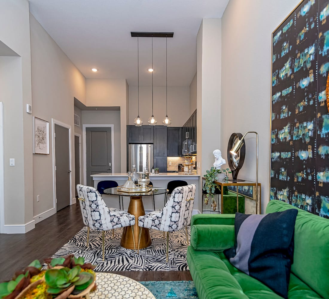 Open floor plan at Canal1535 in New Orleans, Louisiana