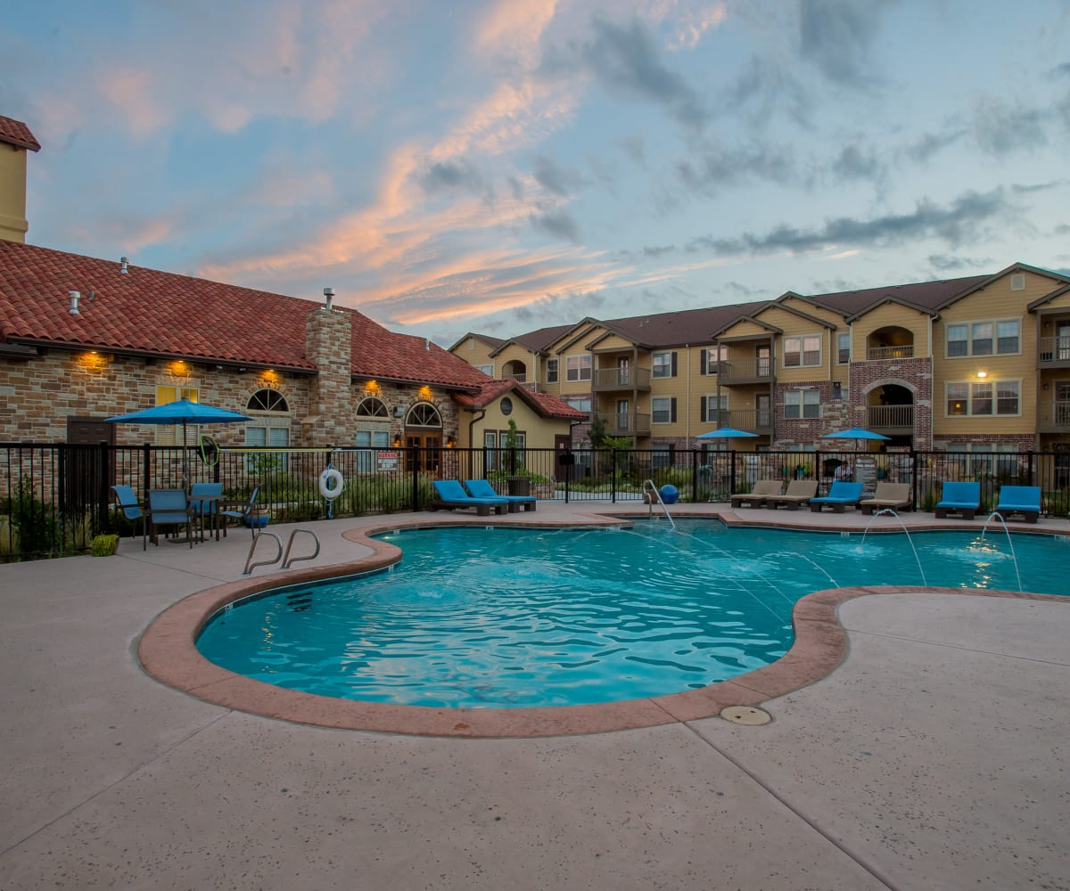 Beautiful outdoor pool at Portofino Apartments in Wichita, Kansas