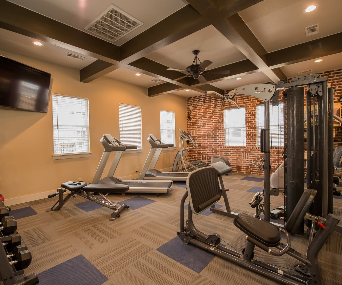 Private fitness center at Scissortail Crossing Apartments in Broken Arrow, Oklahoma