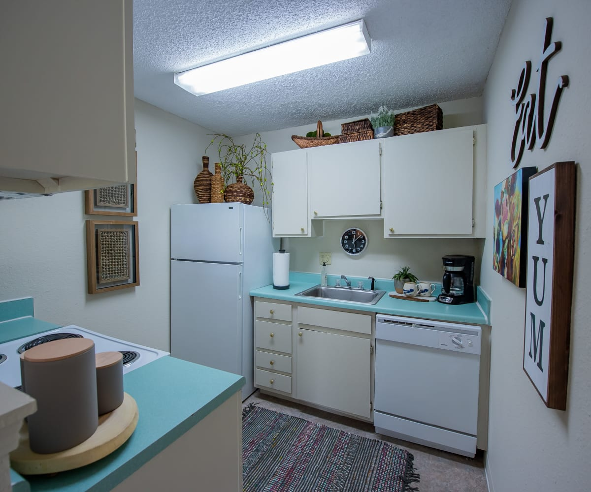 Kitchen with ample counter space at Summerfield Place Apartments in Oklahoma City, Oklahoma
