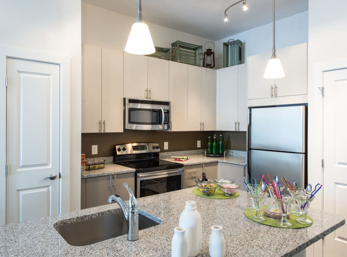 Kitchen with Modern Appliances and Island at  in Silver Spring, MD