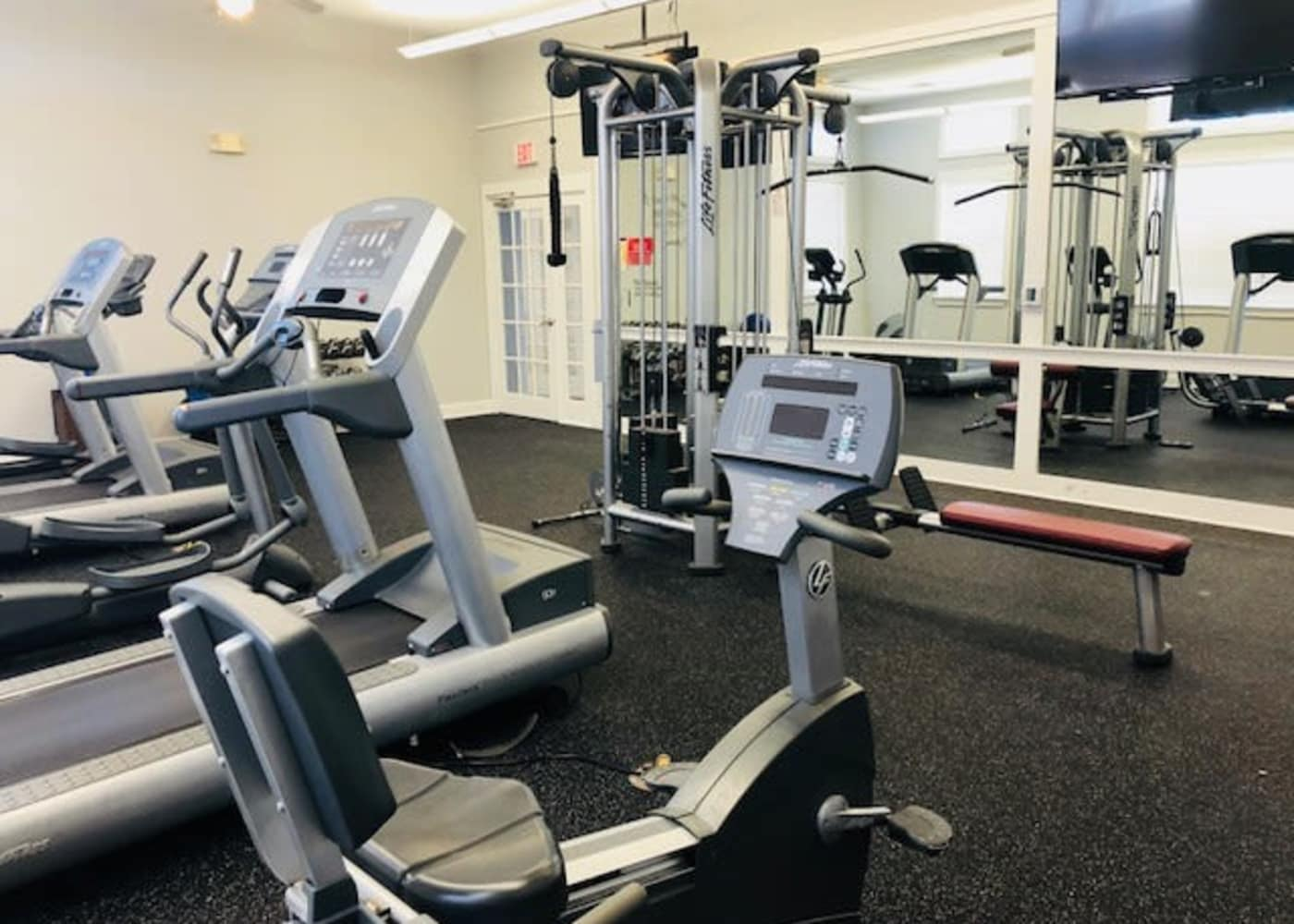 Off Campus Student Housing at The Flatts Salisbury has a large Fitness Center.