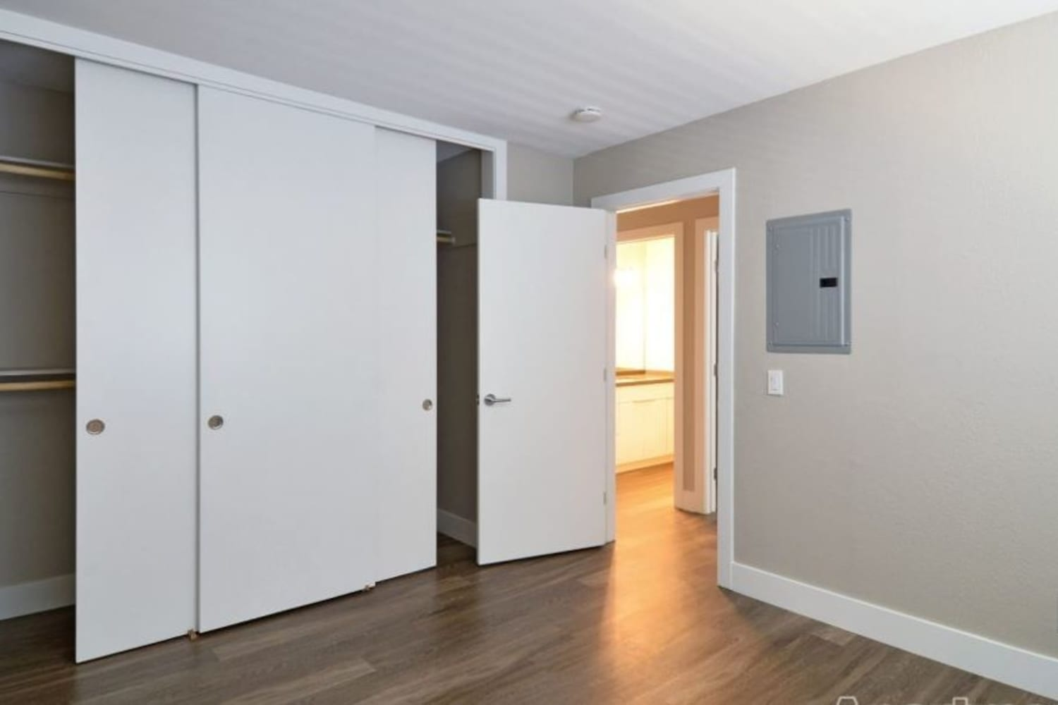 Enjoy ample closet and storage space in the apartments for rent at Harbor Cove Apartments in Foster City, California