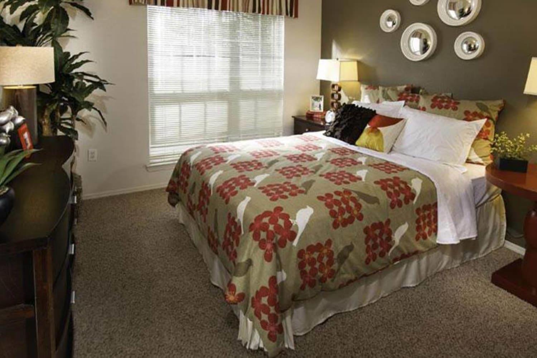 Open bedroom at Irving Schoolhouse Apartments in Salt Lake City, Utah
