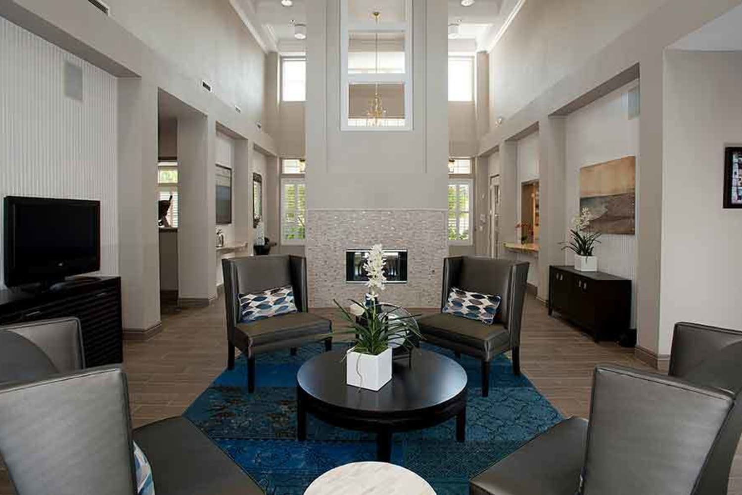 Resident clubhouse at Nantucket Apartments in Santa Clara, California