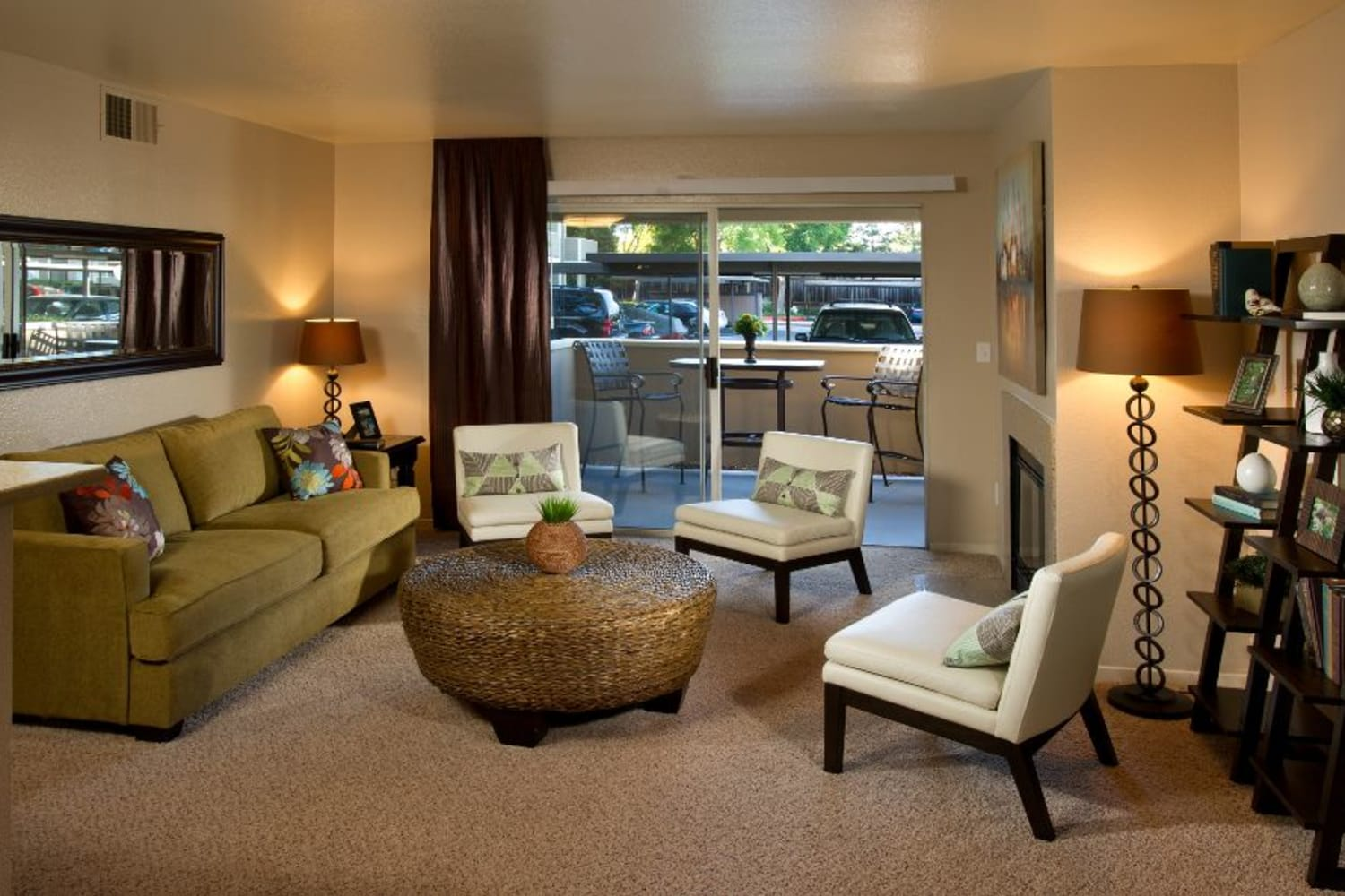 Enjoy spacious living rooms at Bridges at San Ramon in San Ramon, California