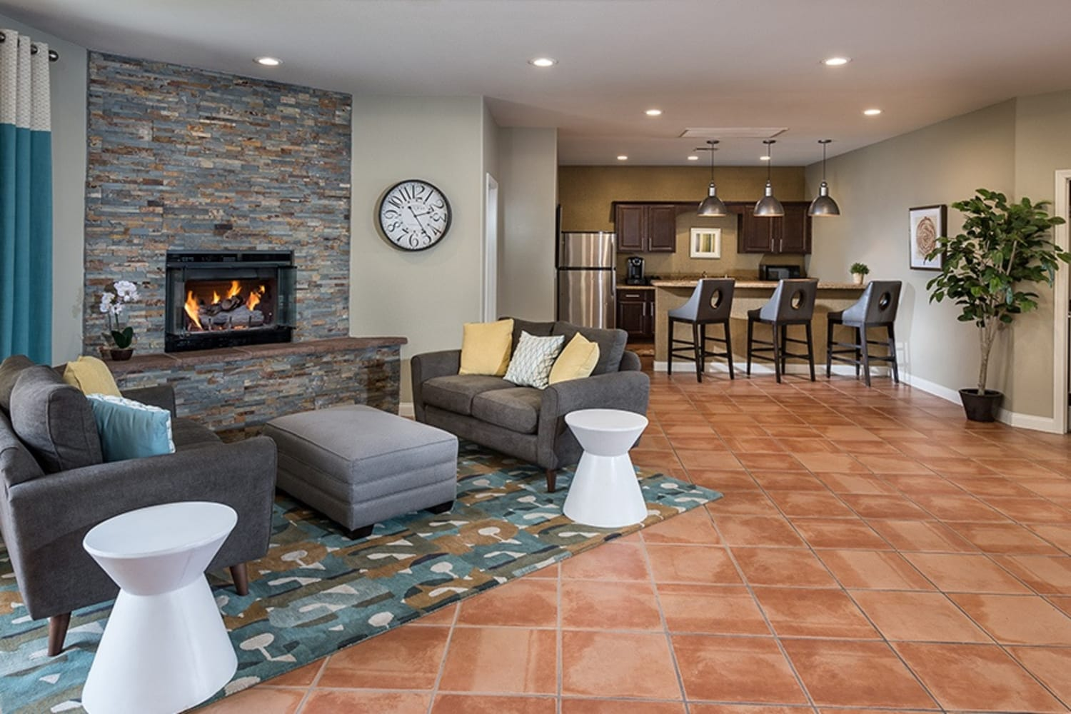 Enjoy time in the community clubhouse at Rancho Destino Apartments in Las Vegas, Nevada
