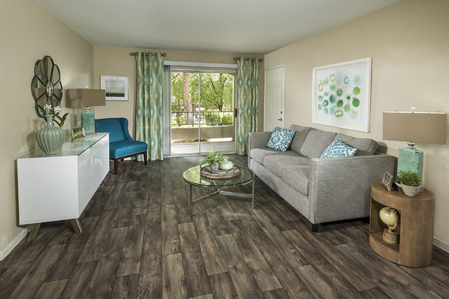 Updated living spaces at Rancho Destino Apartments in Las Vegas, Nevada