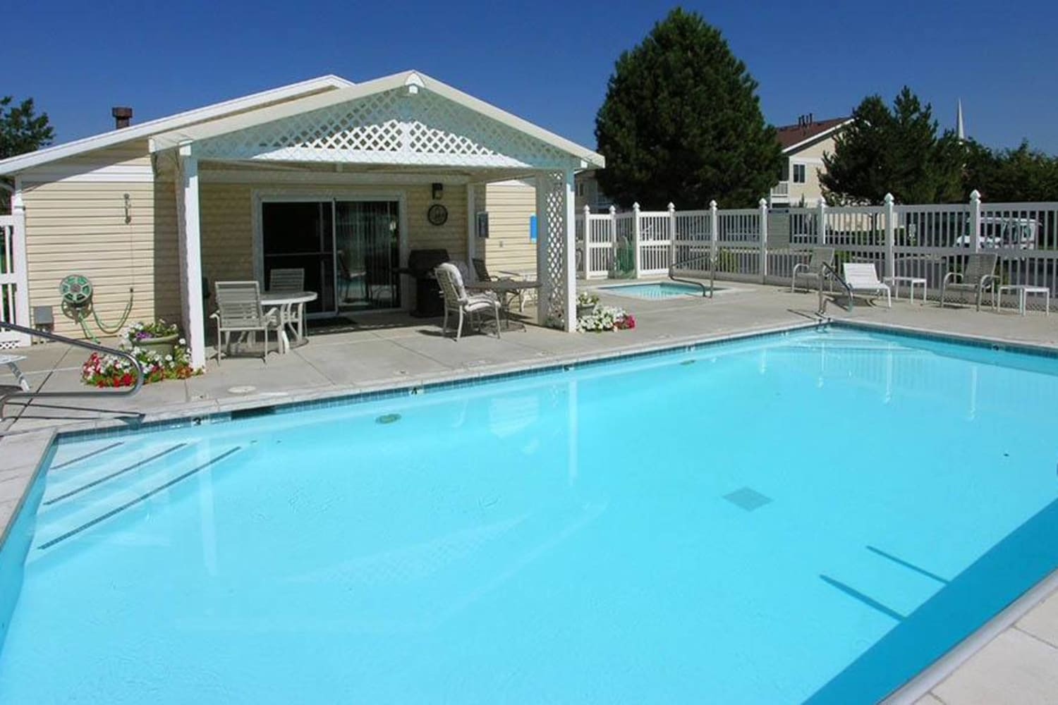 Swimming pool at Lakeside Village Apartments in Salt Lake City, Utah