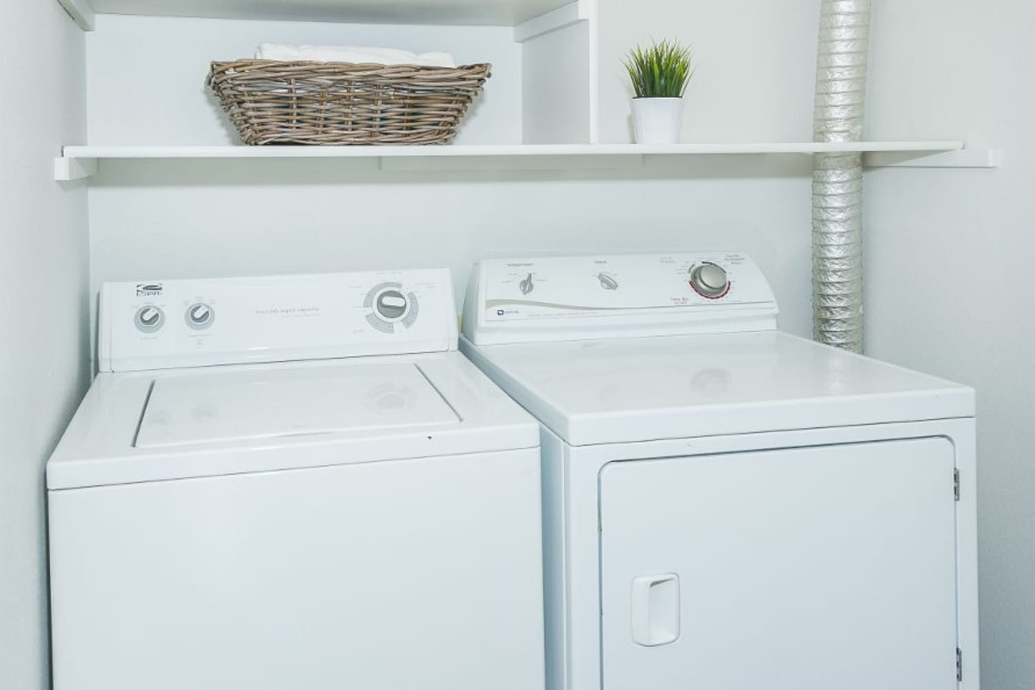 Washer and dryer at Metropolitan Park Apartments in Seattle, Washington