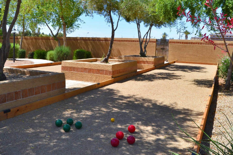 Bocce ball at 2150 Arizona Ave South in Chandler, Arizona