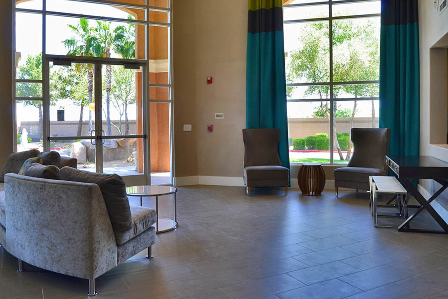 Bright and open clubhouse at 2150 Arizona Ave South in Chandler, Arizona