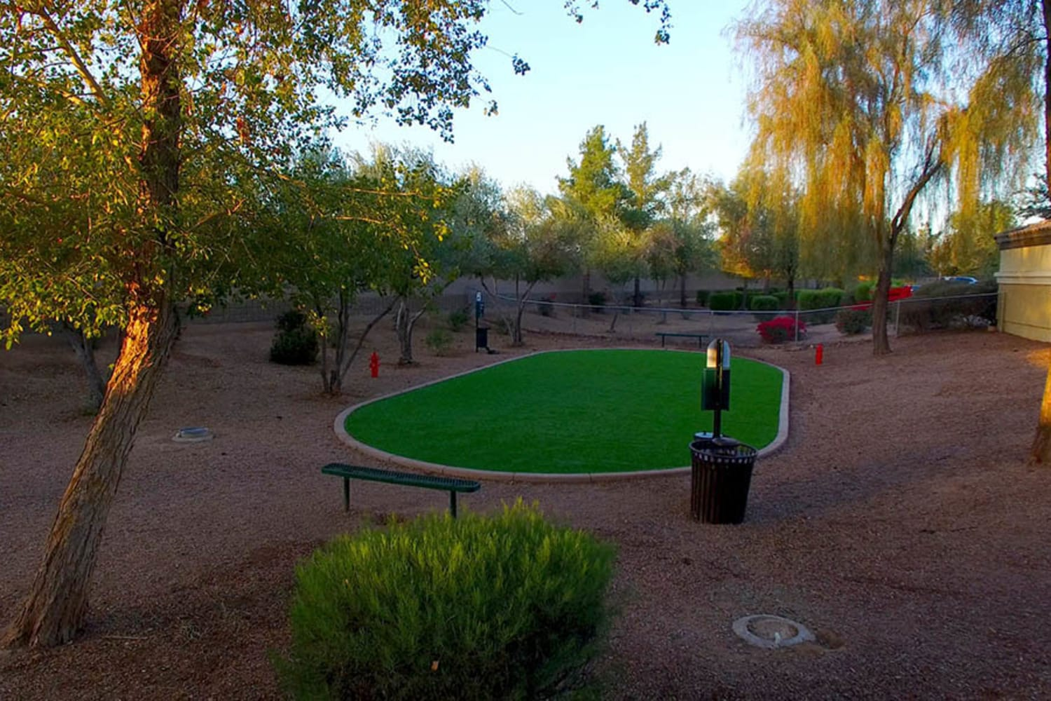 2150 Arizona Ave South in Chandler, Arizona, offers a dog park