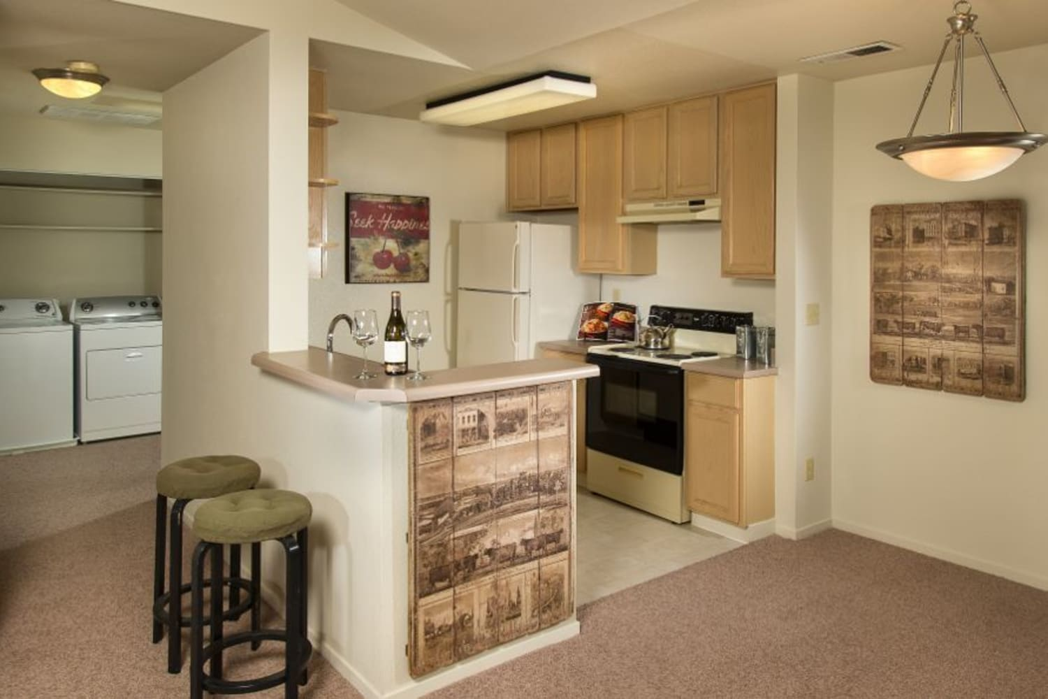 Upgraded kitchens at La Vina Apartments in Livermore, California