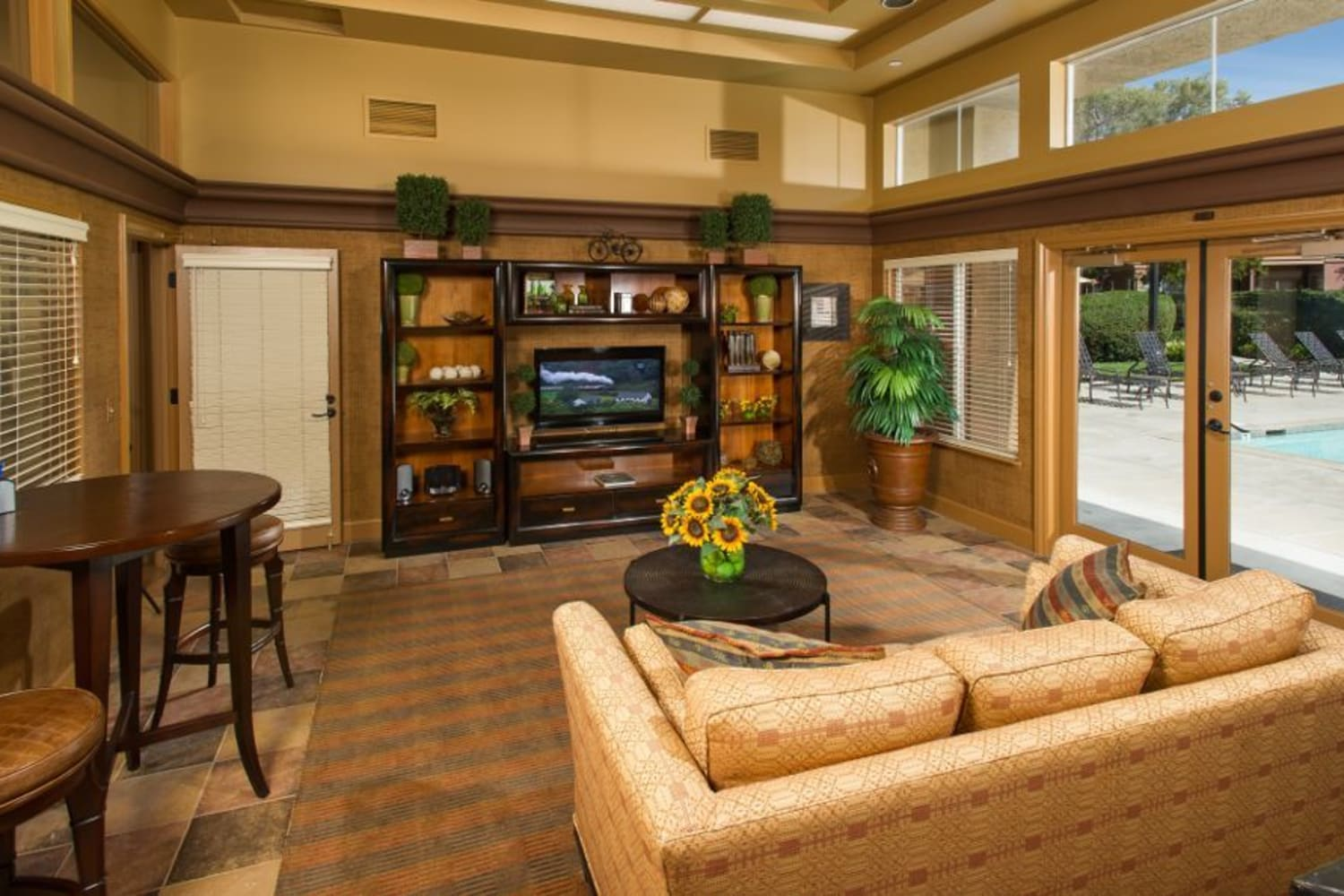 Enjoy a welcoming clubhouse at La Vina Apartments in Livermore, California