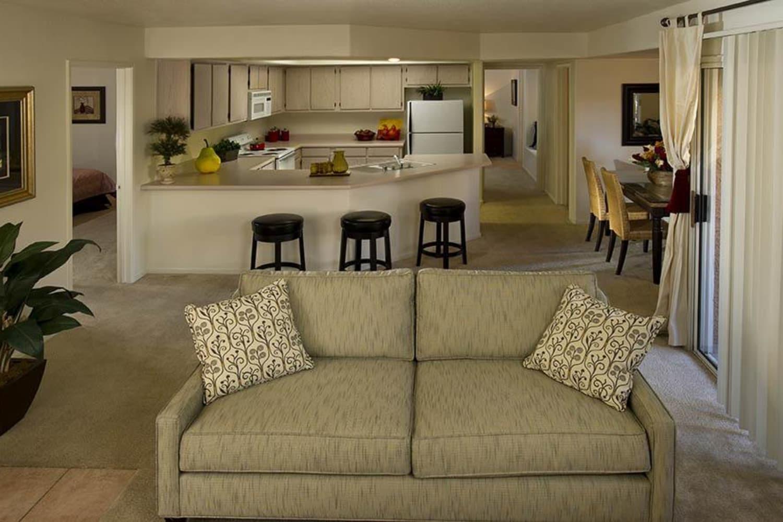 Living room space at 3055 Las Vegas in Las Vegas, Nevada