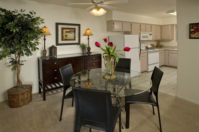 Dining room at 3055 Las Vegas in Las Vegas, Nevada