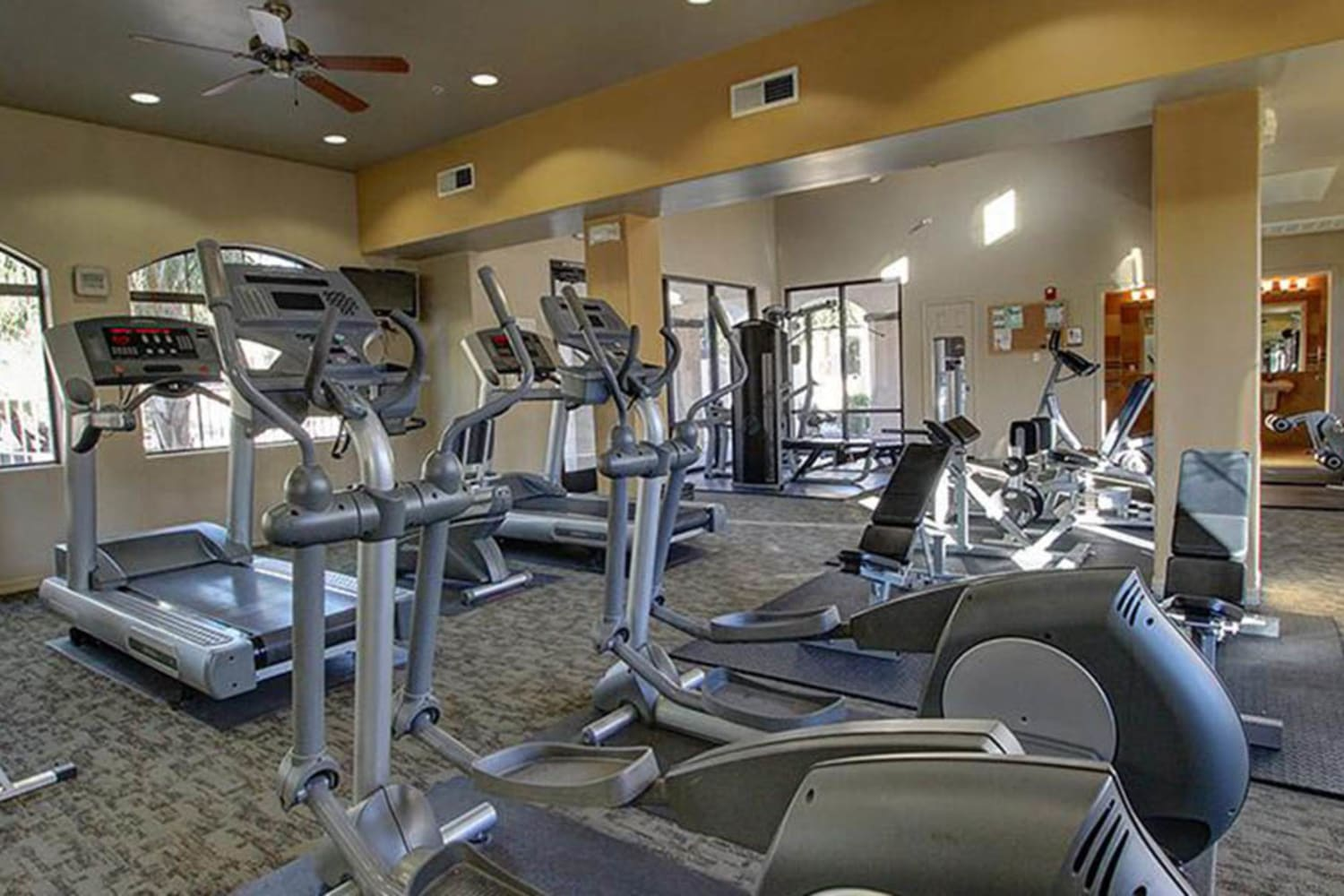 Enjoy having access to a fitness center at Dobson 2222 in Chandler, Arizona