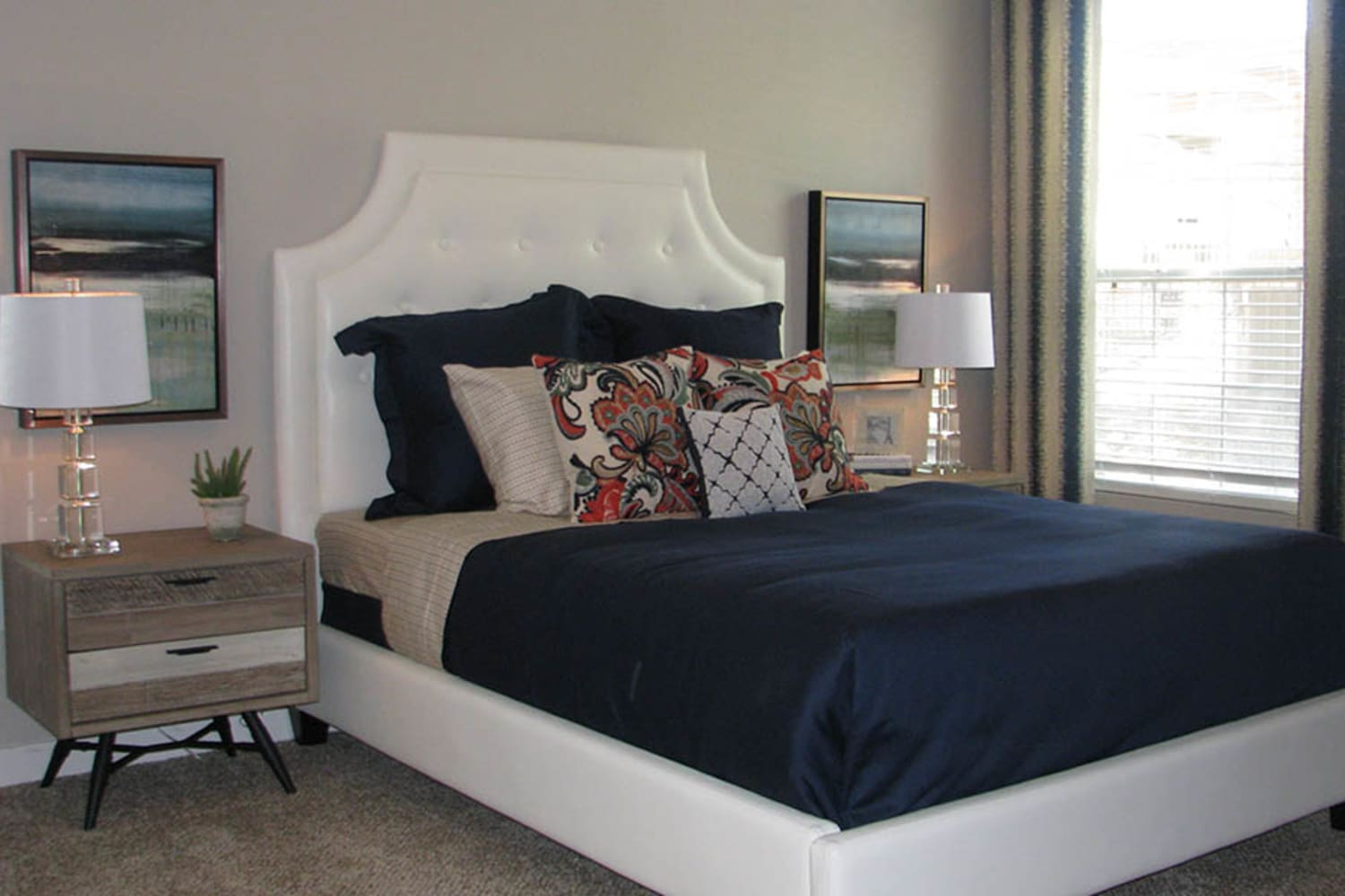 Ocotillo Bay Apartments in Chandler, Arizona, offer large bedrooms to fit all of your furniture