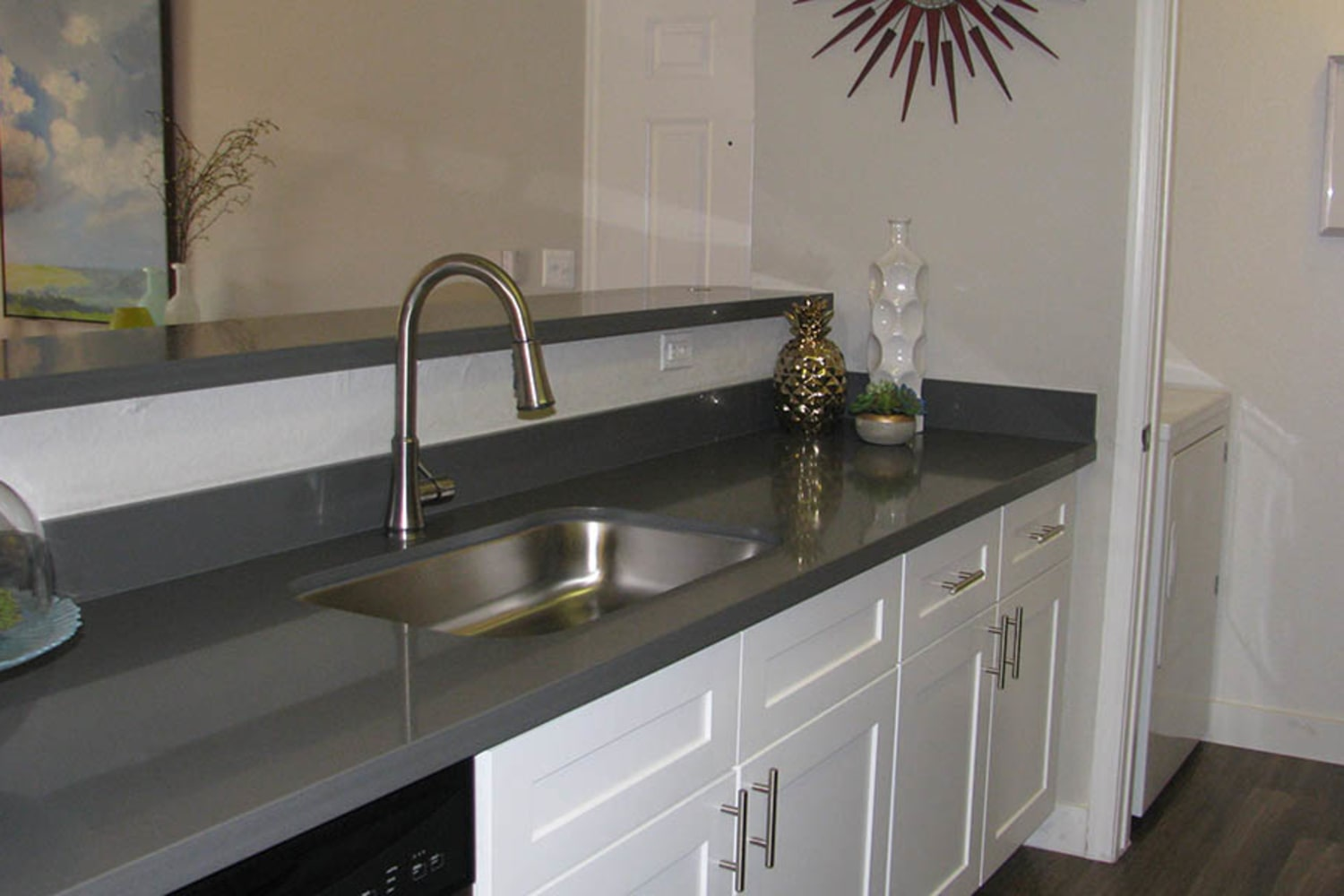 Ocotillo Bay Apartments in Chandler, Arizona, offer bathrooms with ample counter and storage space