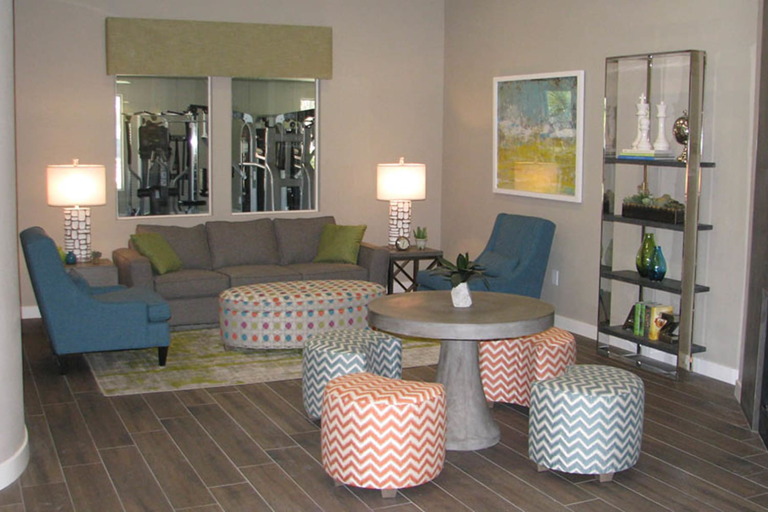 Ocotillo Bay Apartments in Chandler, Arizona, offer a fun and comfortable community clubhouse