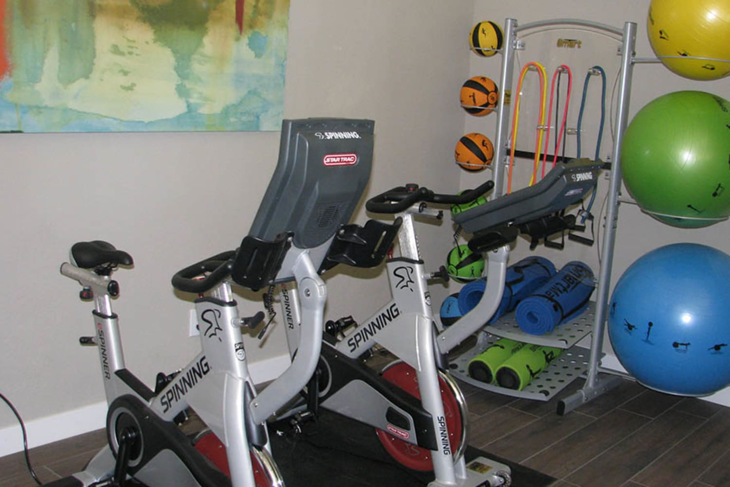 Fitness center at Ocotillo Bay Apartments in Chandler, Arizona