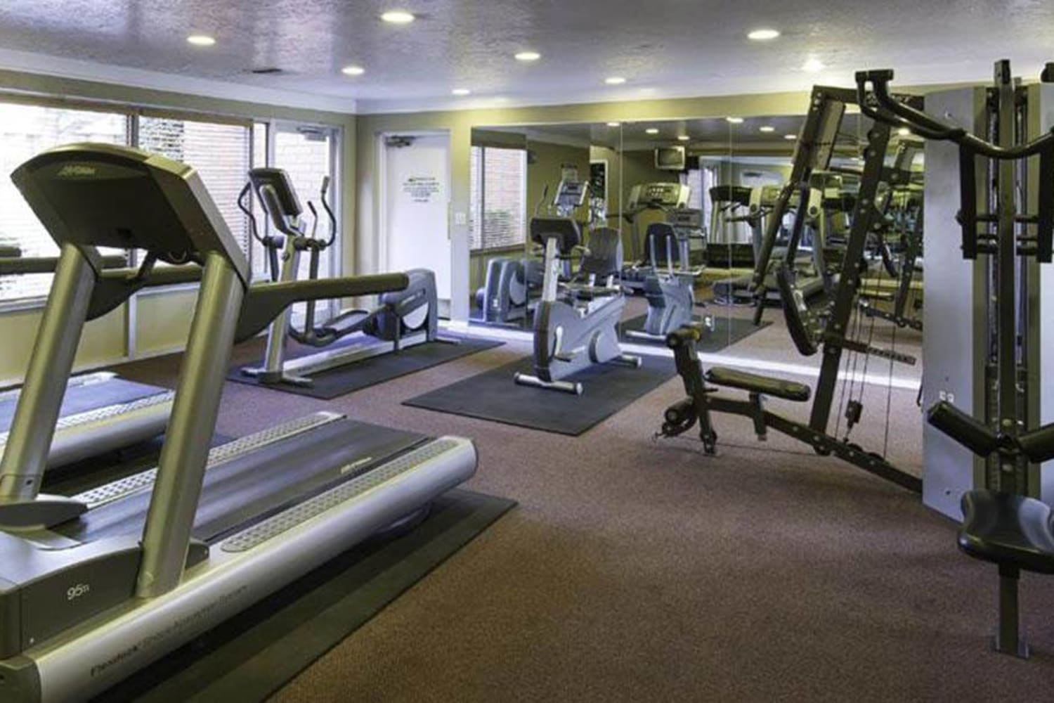 Gym at Wasatch Club Apartments in Midvale, Utah