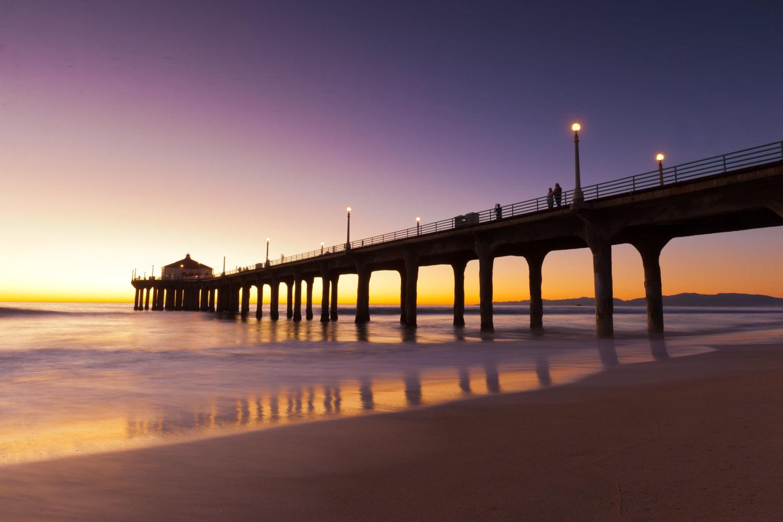 Pier near Seapointe Villas in Costa Mesa, California