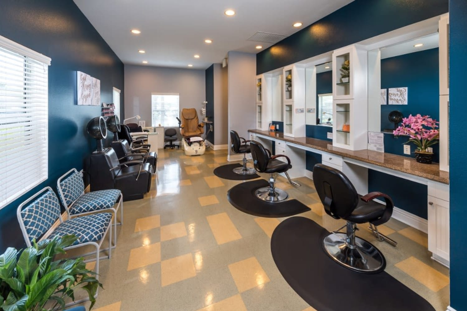 Enjoy access to a hair salon at Village on the Green in Rancho Cucamonga, California