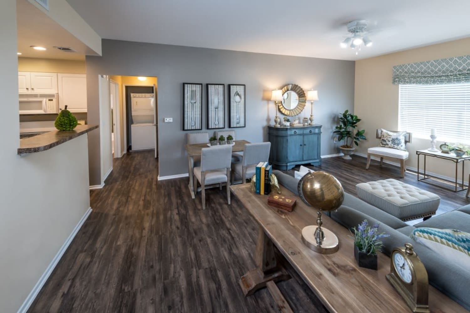 Enjoy hardwood floors at Village on the Green in Rancho Cucamonga, California