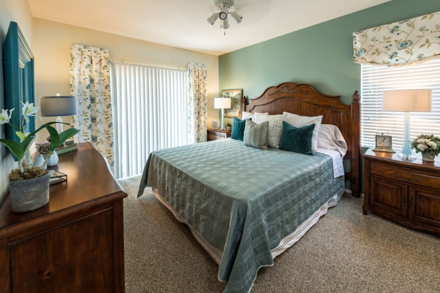 Enjoy spacious bedrooms at Village on the Green in Rancho Cucamonga, California