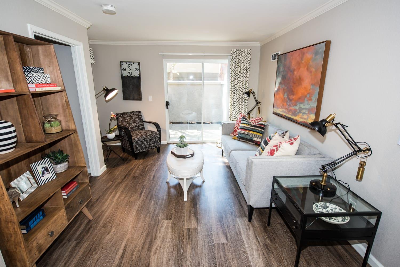 Hardwood floors at Bella Vista Apartments in Santa Clara, California