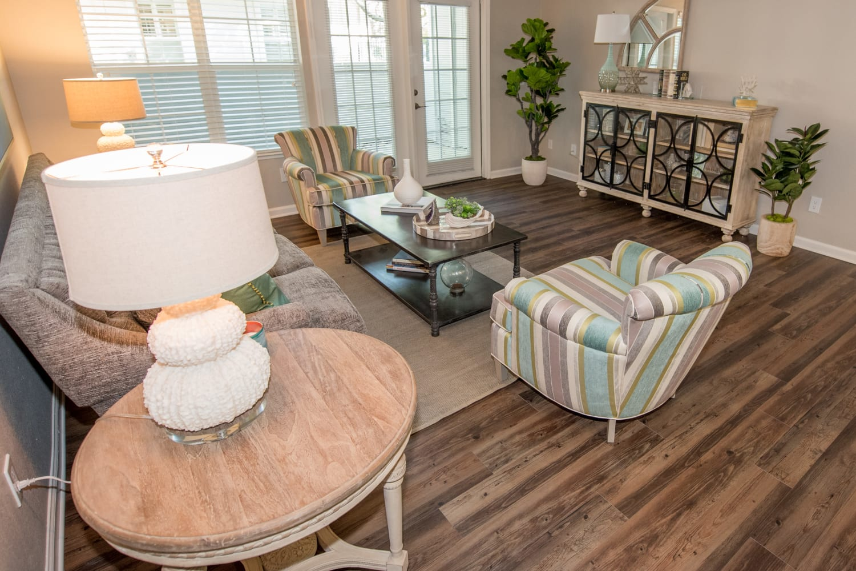 Hardwood floors at Nantucket Apartments in Santa Clara, California
