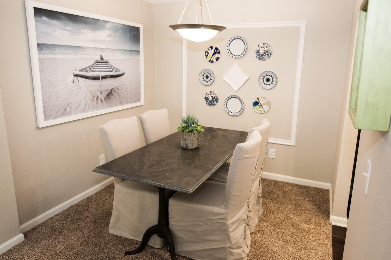 Dining room table at Nantucket Apartments in Santa Clara, California