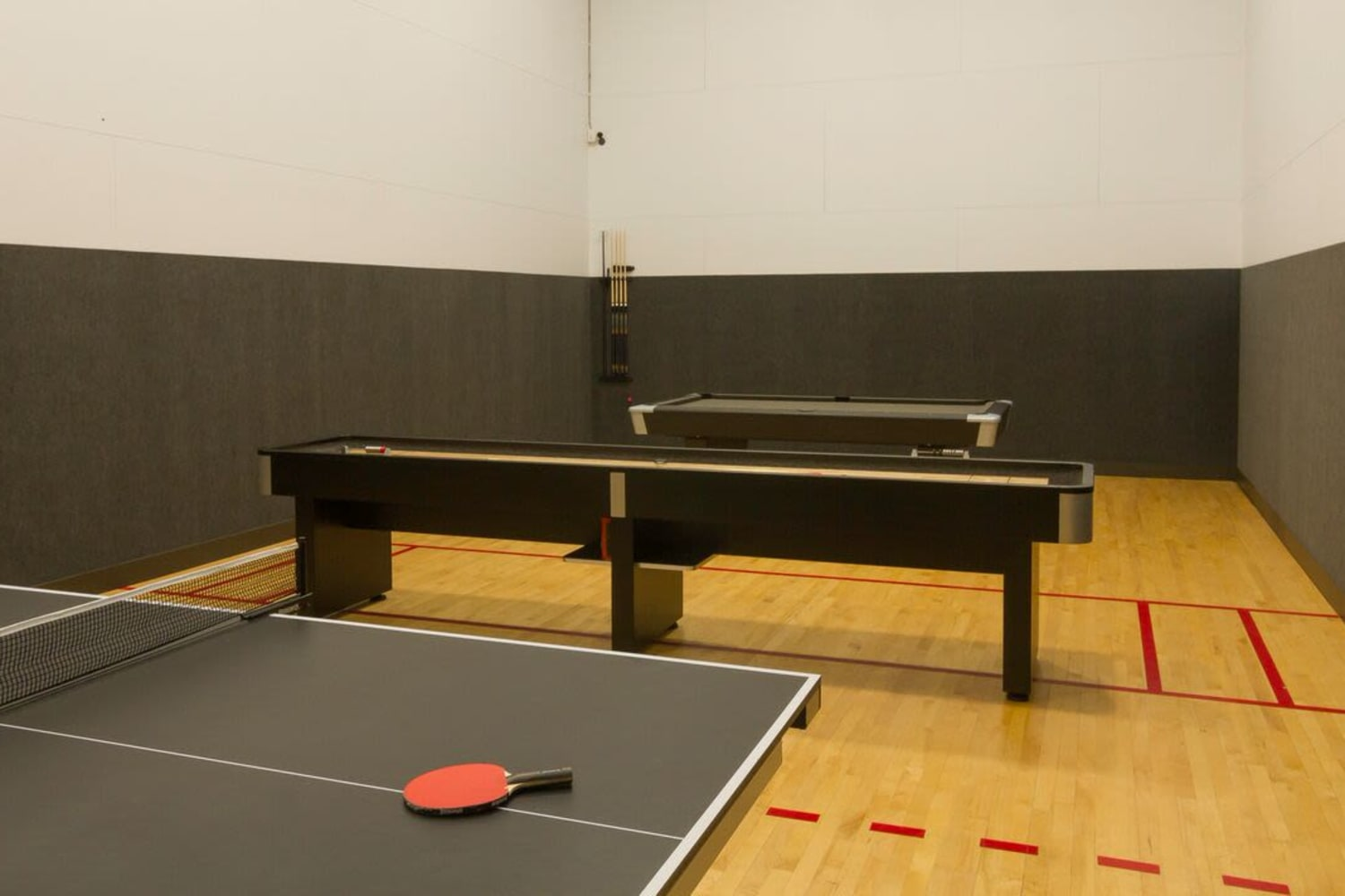 Ping-pong tables at Irving Schoolhouse Apartments in Salt Lake City, Utah