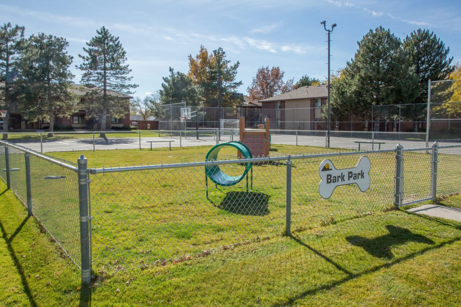 Enjoy the convenience of an onsite dog park at Wasatch Club Apartments in Midvale, Utah