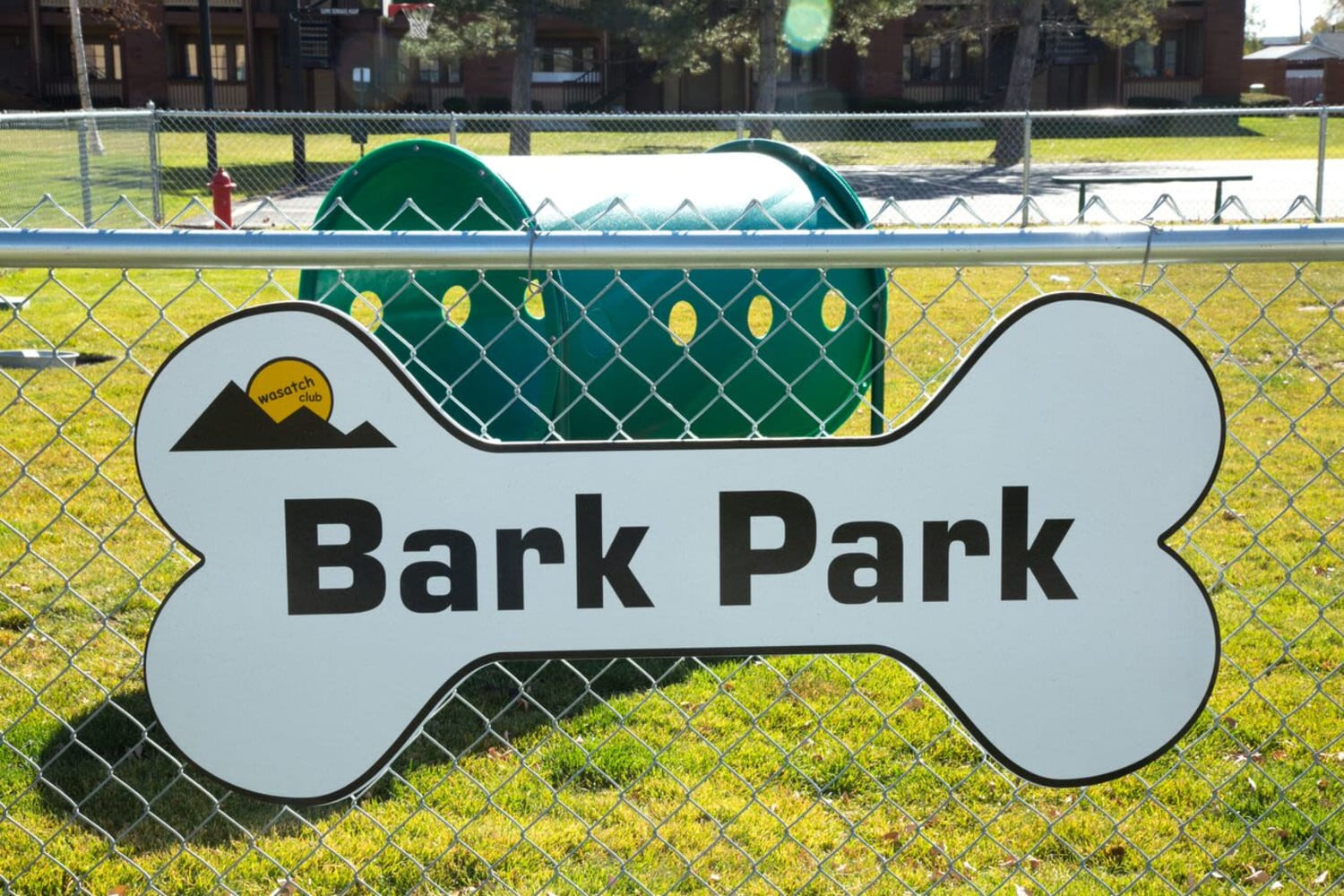 The Bark Park at Wasatch Club Apartments in Midvale, Utah